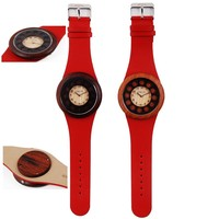 Fabric Nylon Strap Nato Watch Wood Gift Boys Students Quartz Movement Young Age Popular Canvas Zulu Band Nato Watch Wood