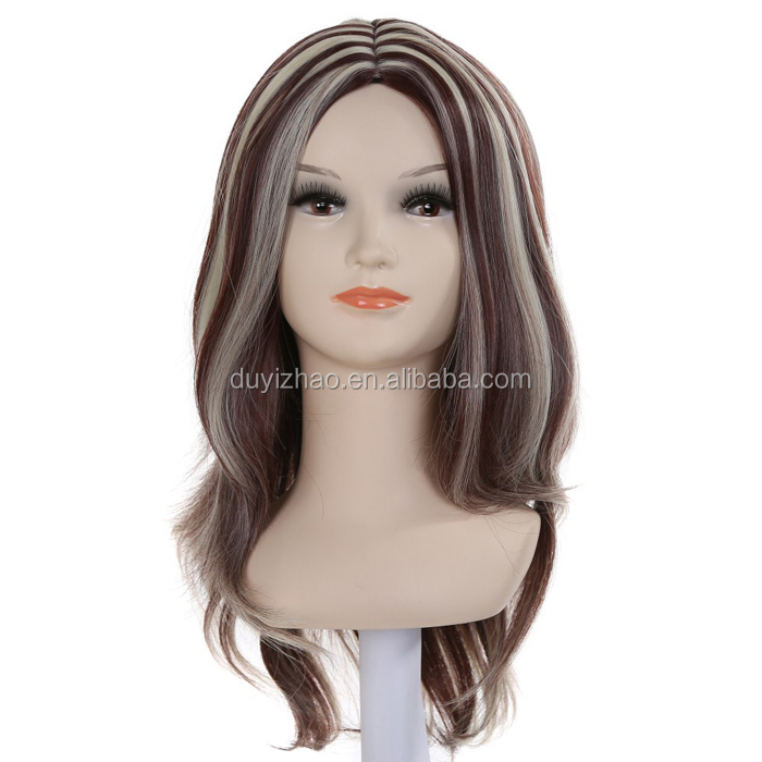 Hot Women 's Fashion Long Curly Wigs Sexy Costume Party Cosplay Hair +Cap