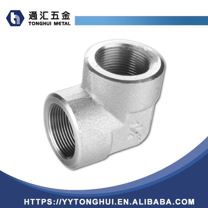 High Quality Malleable Iron Pipe Fittings double female elbow with tap connector