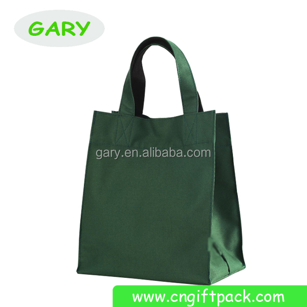 Green Non Woven Fabric Bag/Lightweight Grocery Tote Bag