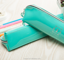 Fancy wholesale cheap customized pu pencil cases