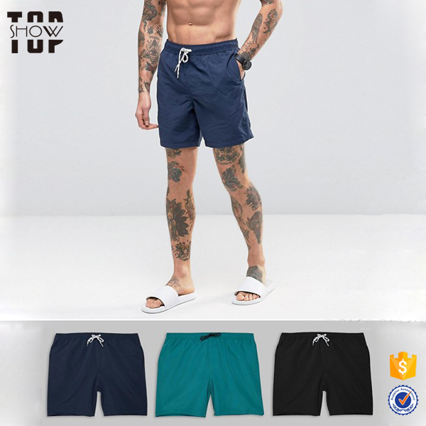 China factory latex swimwear for men plain bulk swimwear swim shorts men
