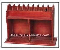 high quality wooden CD storage shelf