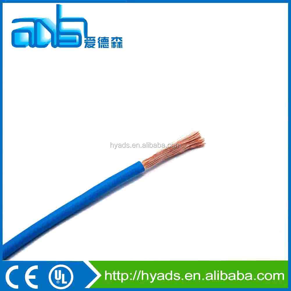 AWG24 single core rv copper clad aluminum PVC jacketed electric wire