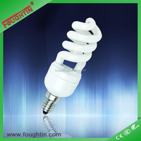 15Watts daylight Half spiral energy saving lamp E14 E27 energy bulb