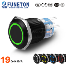 ZN-AL ALLOY 19mm bell push button switch, momentary led push button switch