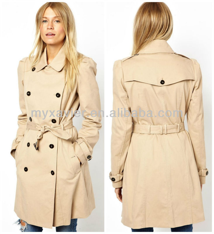 Double breasted ladies coat winter coat pictures manufacturer(S3084)