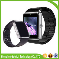 Wholesale price touch screen customize branded mobile watch phones lady GT08 watch