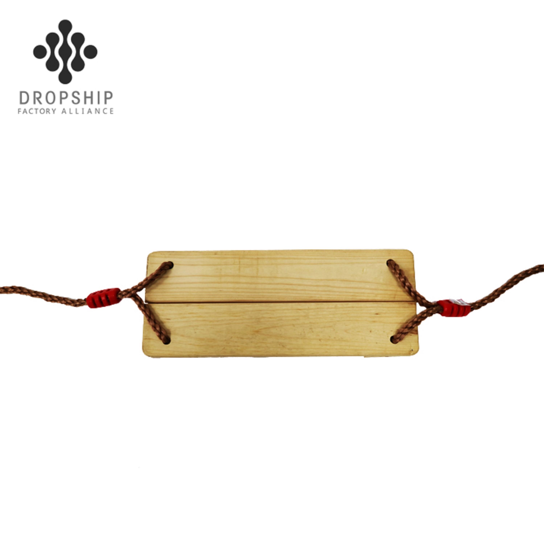basic wooden swing set