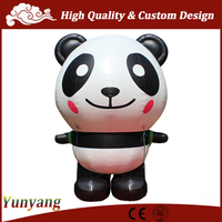 Inflatable cartoon Panda, inflatable cartoon character for kids