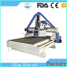 Multifunctional CNC Router HSD 9kw ATC Spindle,1220*2440 mm Size 4 axis cnc milling machine for engraving wood