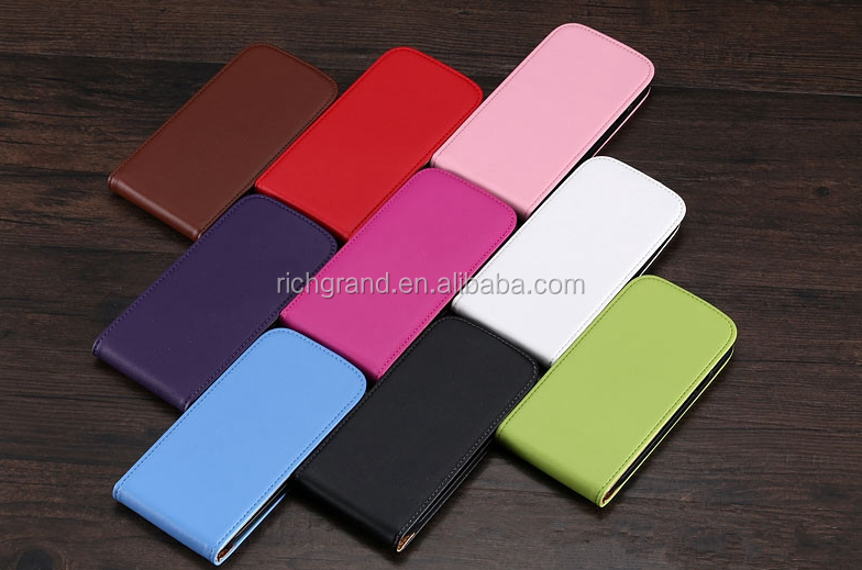 Fashion Retro Real Genuine Leather Phone Case For Samsung Galaxy S3 S4 S5 S6 Vertical Flip Protective Cover