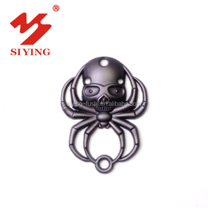 Metal label tag with skull logo for garment accessories market in Guangzhou