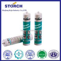Neutral cure high-temperature adhesive for metal silicone structural sealant