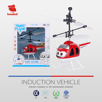 TXD366-1 is easy to use LED twinkling rechargeable infrared sensing helicopter children flying toys