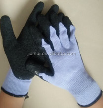 Polyester Liner Nitrile Palm Coated Women safety gloves
