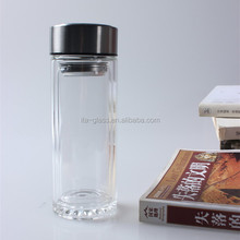 Hot! Office Glass Tea Cups/ Mugs with Glass Strainer with Stainless Steel Lid
