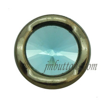 design shape blue crystal metal buttons factory for apparel