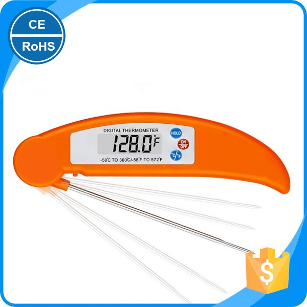 Kitchen Folding Digital Thermometer Temperature Meter Cooking Food Meat BBQ Household Use 200 Cesius degree 392 Fahrenheit