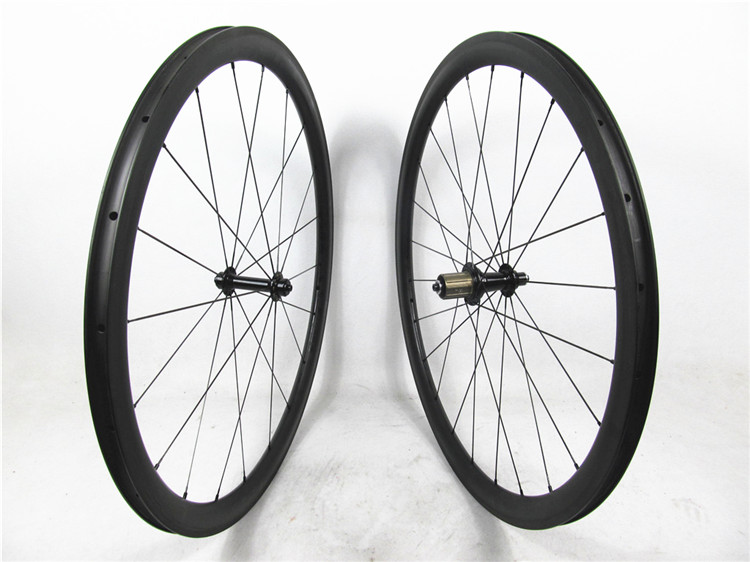 Bitex hub from Taiwan T700 clincher wheels carbon road bike wheelset 38mm deep 3K UD or matt glossy
