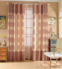Professional ready made for living room simple style jacquard curtain