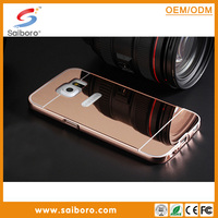 Mirror Aluminum metal bumper back cover case for Samsung galaxy S6 mirror phone case
