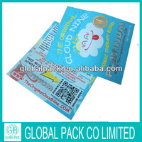 top open herbal incense the original cloud nine with zipper/herbal incense chemical bag