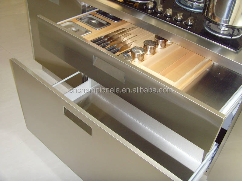 Metal kitchen sink base cabinet stainless steel kitchens for Stainless steel kitchen base cabinets