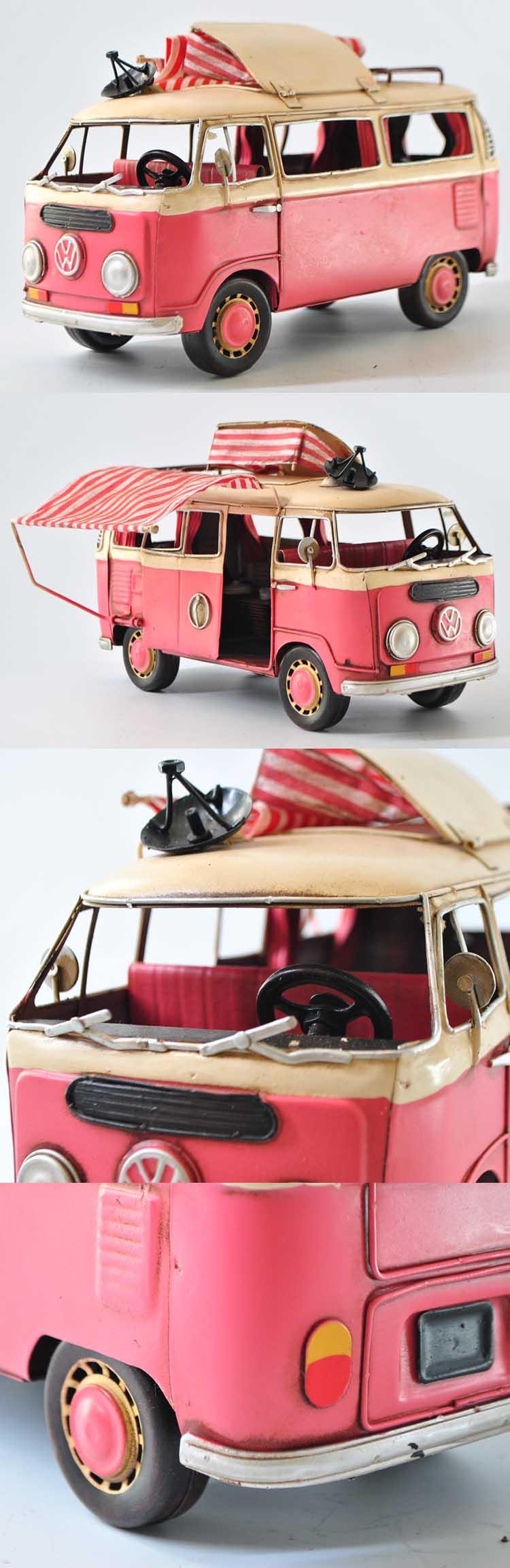 1966 Vw Bus Model,Vintage Camping Bus,Vw Camper Model 1:20-scale For ...