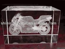 unique 3d laser crystal motorcycle