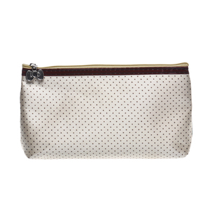 Wholesale fashion simple dot pattern casual essential travel small cosmetic bag,design waterproof polyester makeup storage bag