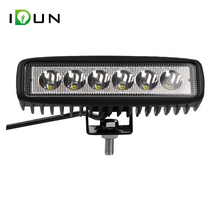 High Quality 18w Led Driving Light Bar Work Lamp for Off-road Vehicle Truck Trailer 4x4 Jeep Forklift