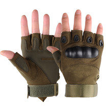 High Quality Protective Full half Finger Microfiber sports Military Tactical Training Gloves