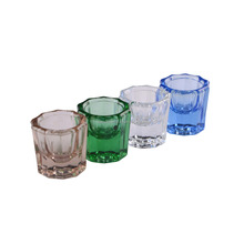 Easyinsmile Crystal Octagonal Glass Cup Dappen Dish for Arcylic Nail Art Liquid Powder and Dental materials 24/Pkg