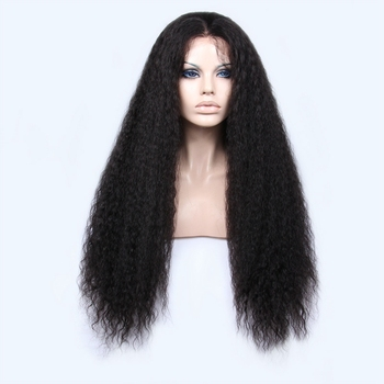Premier natural Spanish Wave Chinese human hair lace front wig with baby hair lace front wig for black women