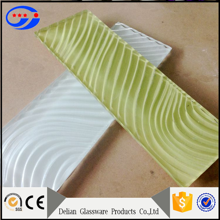 Subway Decoration Glass Wall Tile 3x6