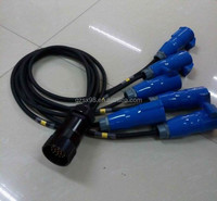 socapex extension cable with 16A power socket
