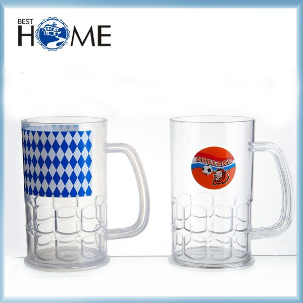 Colored Glass Cup, 500ML Beer Glass, Beer Travel Mug