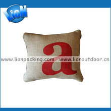 Customize jute burlap pillow cover for home decoration