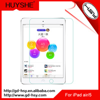 HUYSHE 0.3mm tempered glass screen protector for iPad air case Shenzhen cell phone accessory for ipad air
