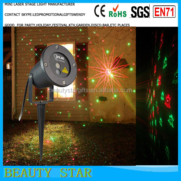 holiday light projector ip65 outdoor decoration festoon light portable mini laser light China factory&manufacturer