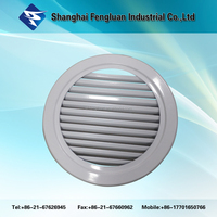 Aluminium movable round louver for ventilaiton system