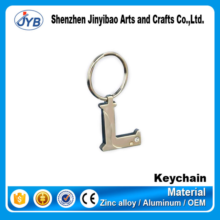 personalized cool alphabets keyrings 26 letters shape keychain