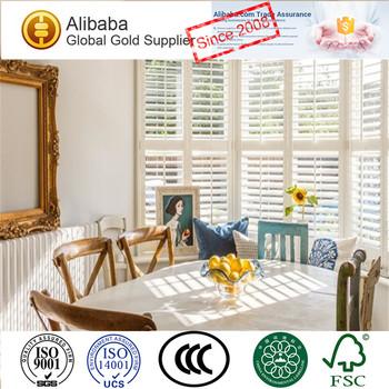 New Arrival with Premium Quality of Low Price Custom-Made Bi-Fold Plantation Shutters In Guangzhou