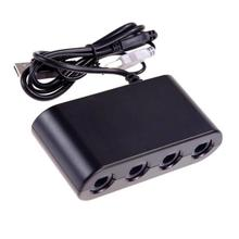 4 Ports for Gamecube for NGC Controller Adapter For <strong>Wii</strong> U for Nintendo Switch and PC USB Controller Adapter