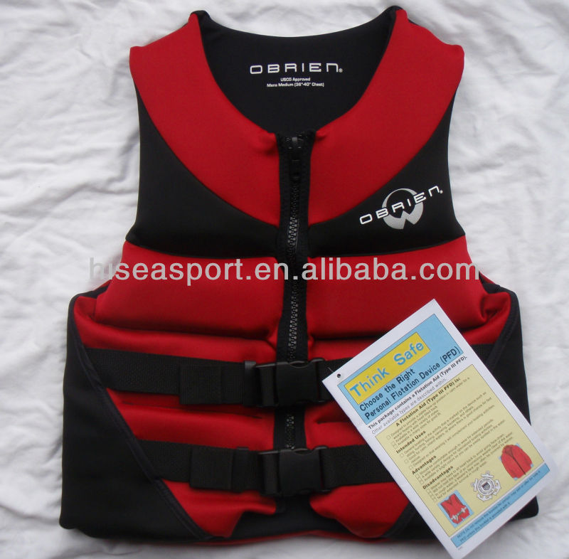 hot sale high quality neoprene marine solas approved life jacket