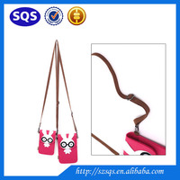 Hot Factory Price OEM Cute Felt Long Strings Travel neck pouch bag