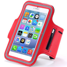 Luxury Sweat-proof Flip PU Leather Case Sport Gym Running Armband For Iphone 6