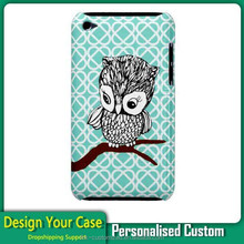 Big Sale!!! Cute Owl 3D Sublimation Phone Case for iPod touch4 Custom case with logo print