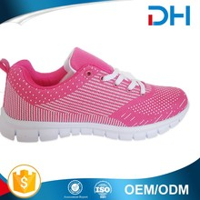 2017 pink and white offset printing upper sport women shoes